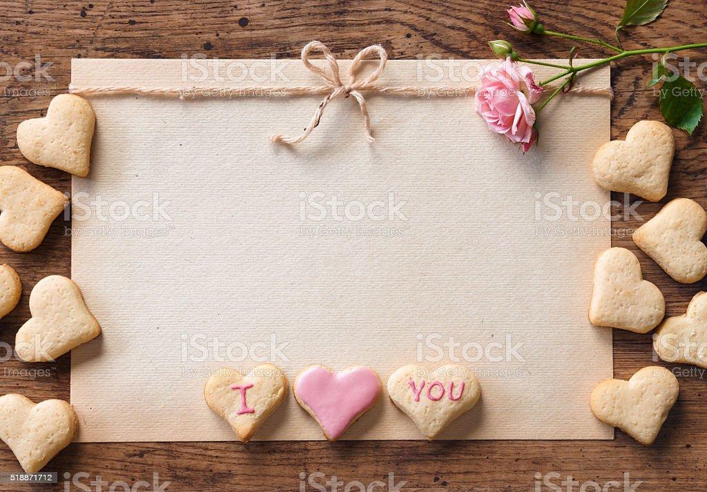 Valentine's day cookies. stock photo