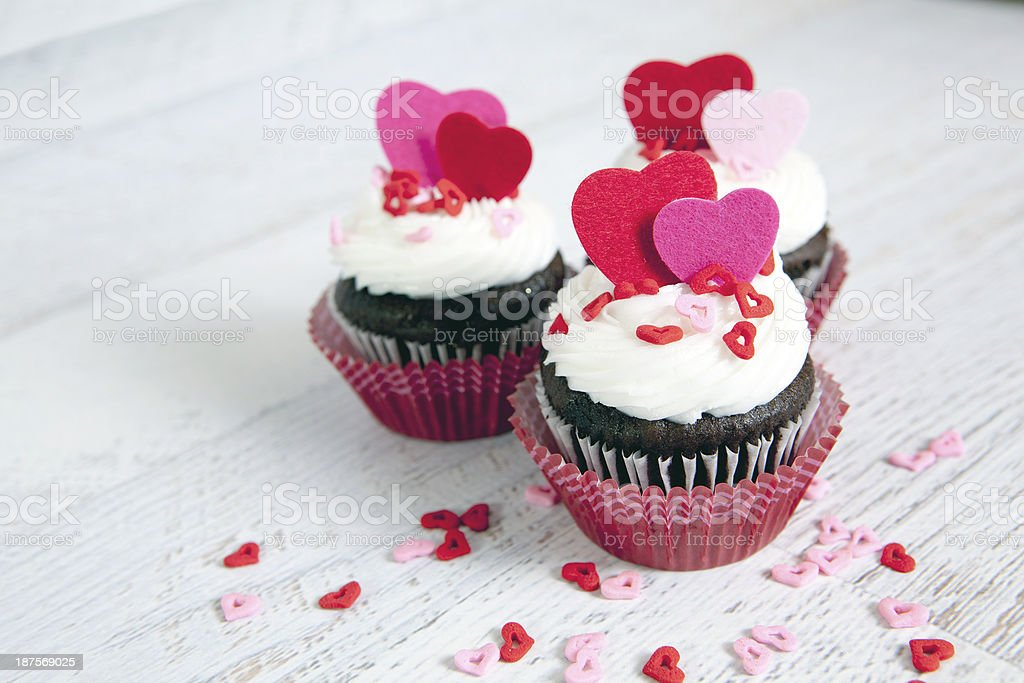 Valentines Day Cupcake Background royalty-free stock photo