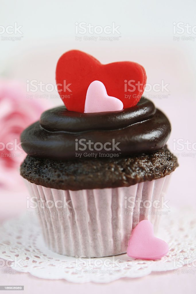valentine's day cupcakes royalty-free stock photo