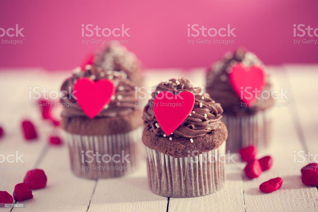 Valentinstag Dessert Lizenzfreies Stock Foto