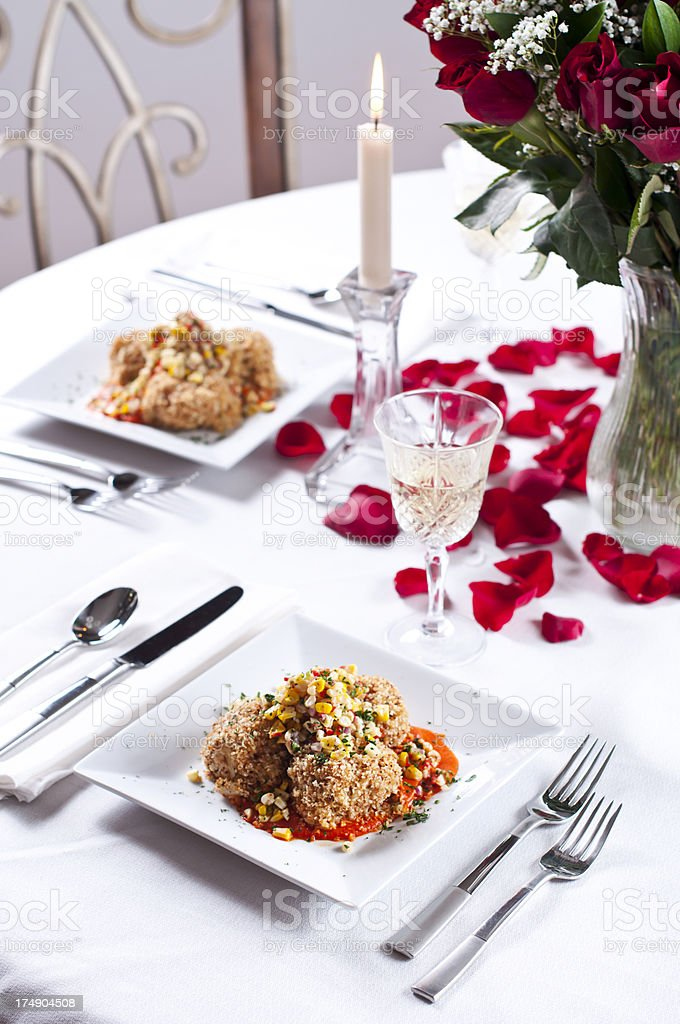 Valentine's Day Dining royalty-free stock photo