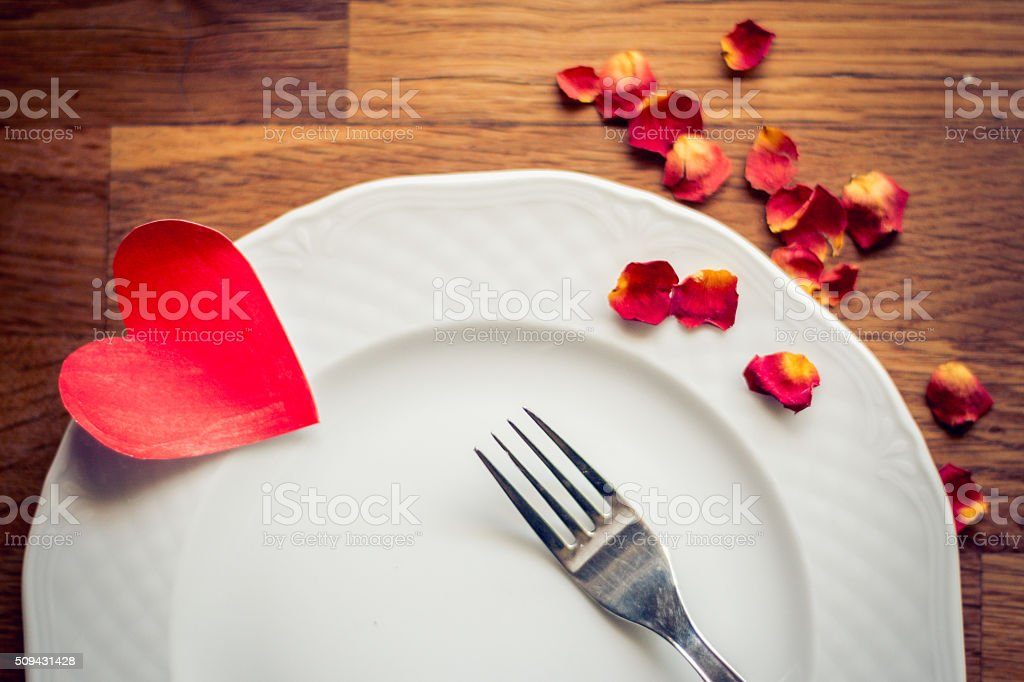 Valentine's Day dinner stock photo