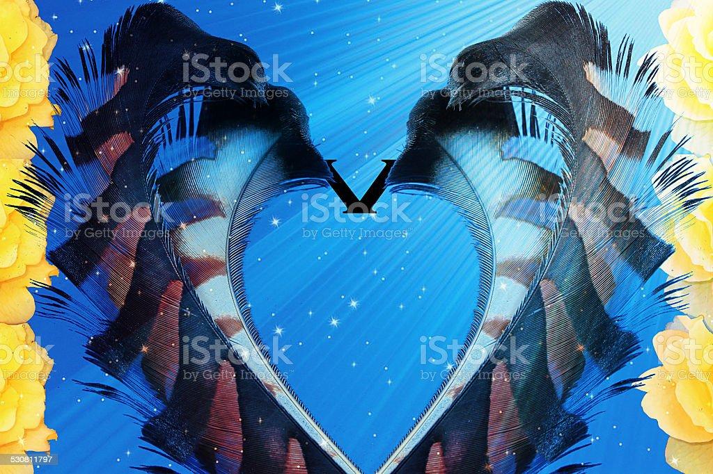 Valentine's day foreground background stock photo