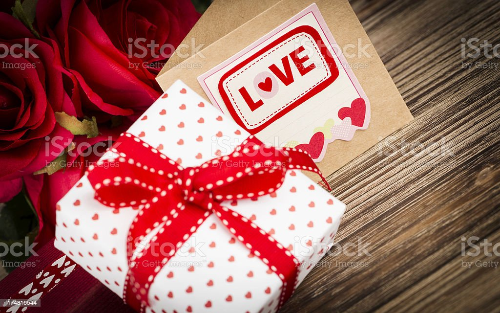 Valentine's Day Gift and Card royalty-free stock photo