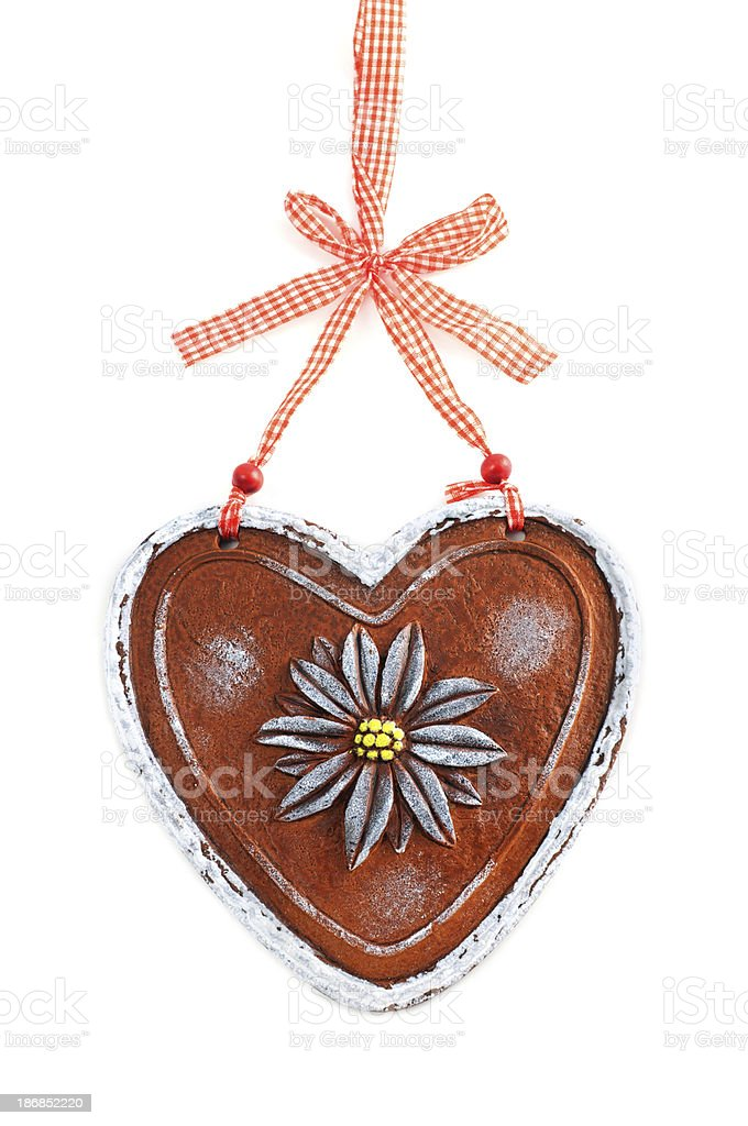 valentines day gingerbread plastic heart royalty-free stock photo