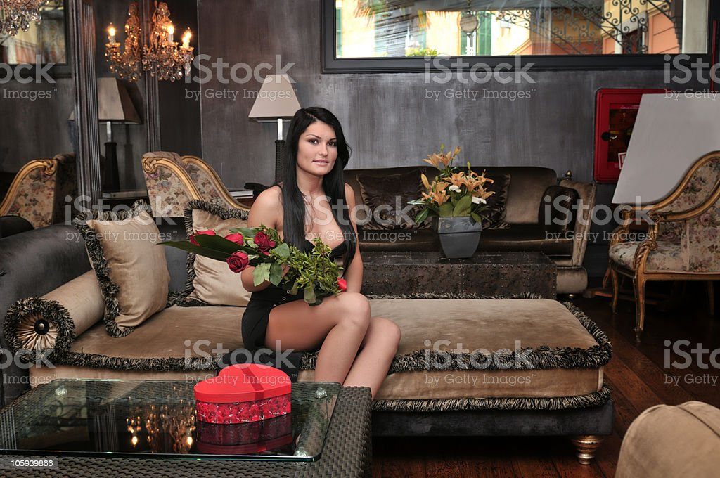 Valentine's Day Girl royalty-free stock photo