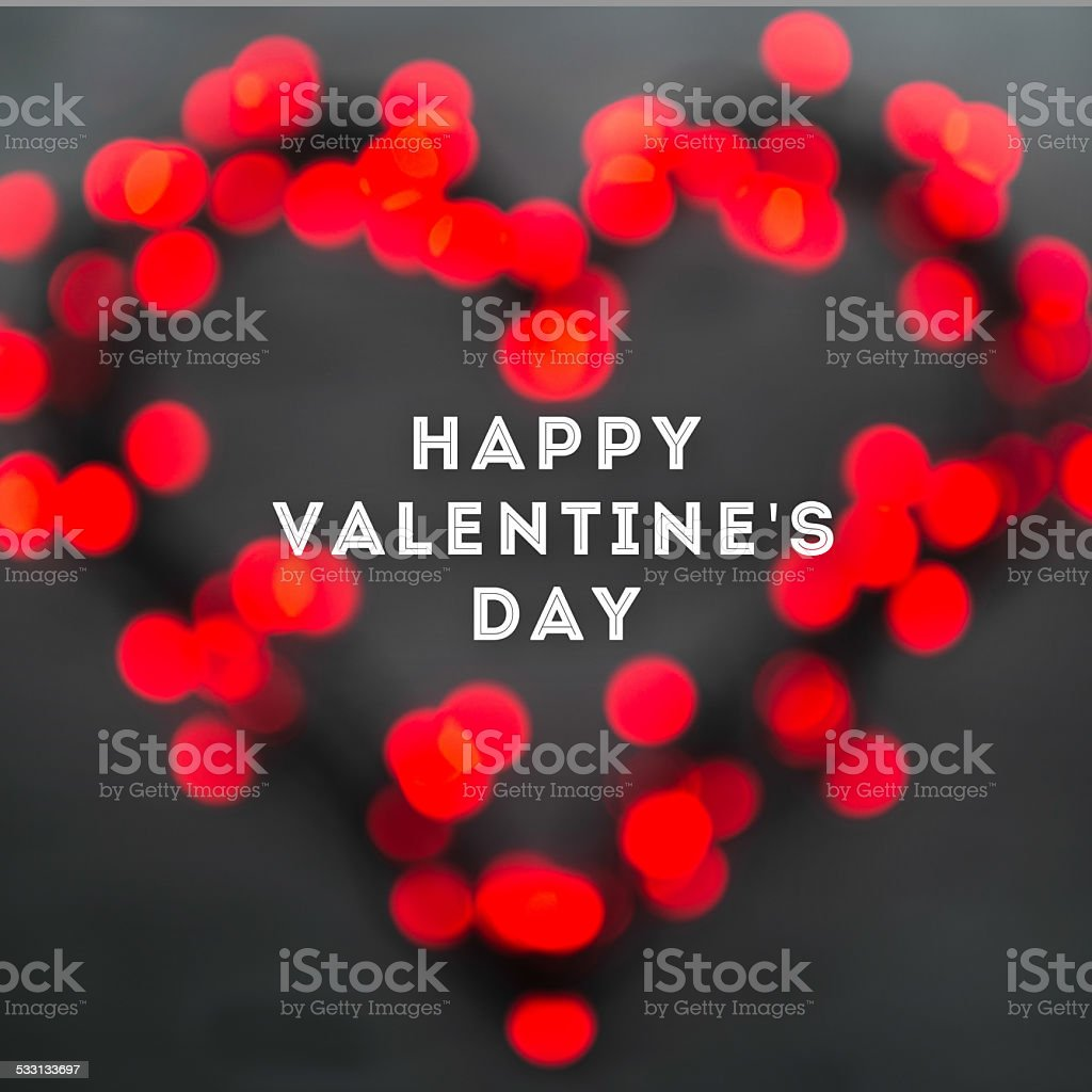 Valentines day greeting card concept stock photo