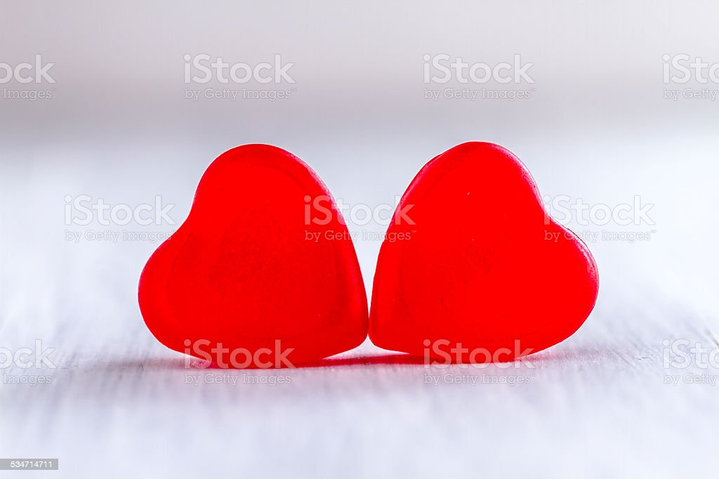 Valentines Day Heart Candy and Cookies stock photo