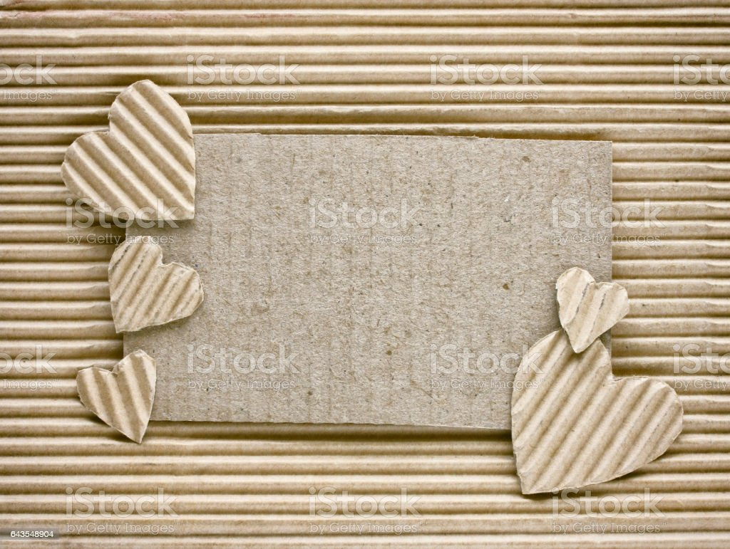 valentine's day, heart cut from corrugated paper stock photo