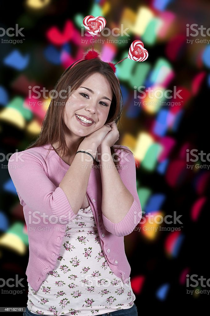 Valentines Day Heart Woman stock photo