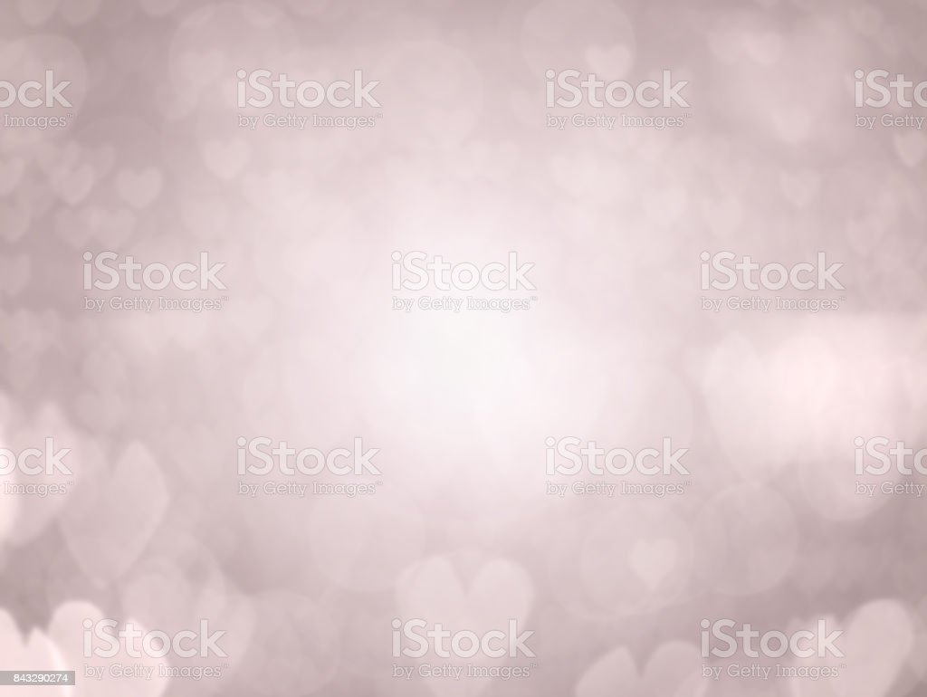 Valentine's day hearts bokeh background stock photo