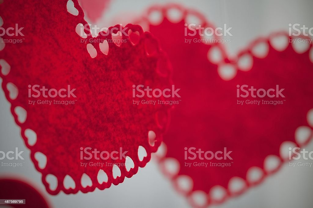 Valentine's Day Hearts Floating in the Air stock photo