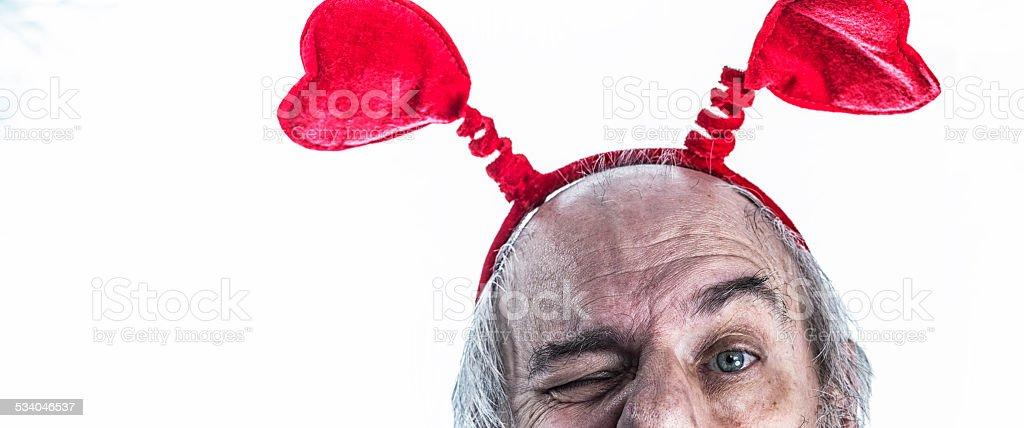 Valentine's Day Hearts Headband Bopper stock photo