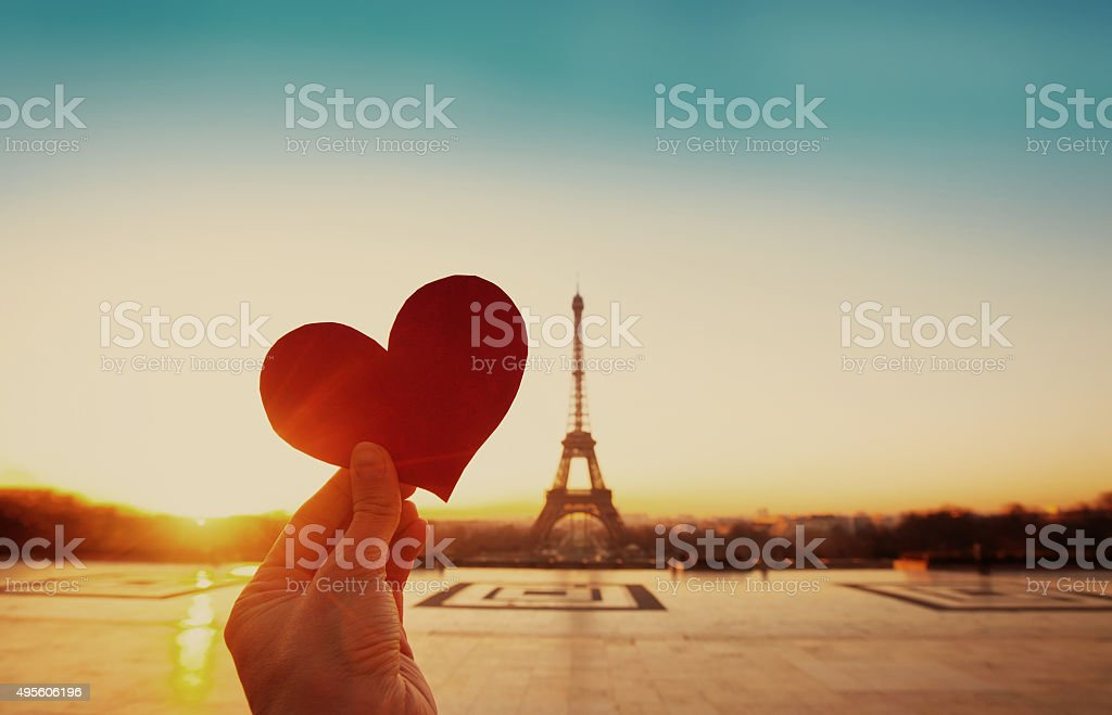 valentines day in Paris stock photo