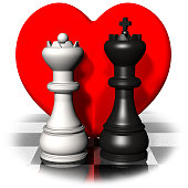 Valentine's day. King and Queen of love