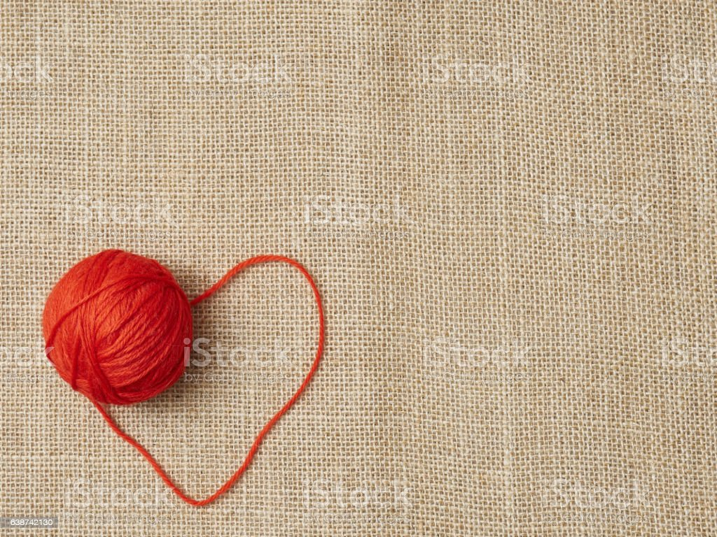 Valentines day love background heart and textile stock photo