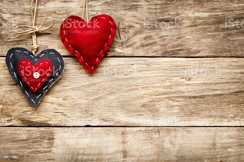 valentine's day love heart card stock photo
