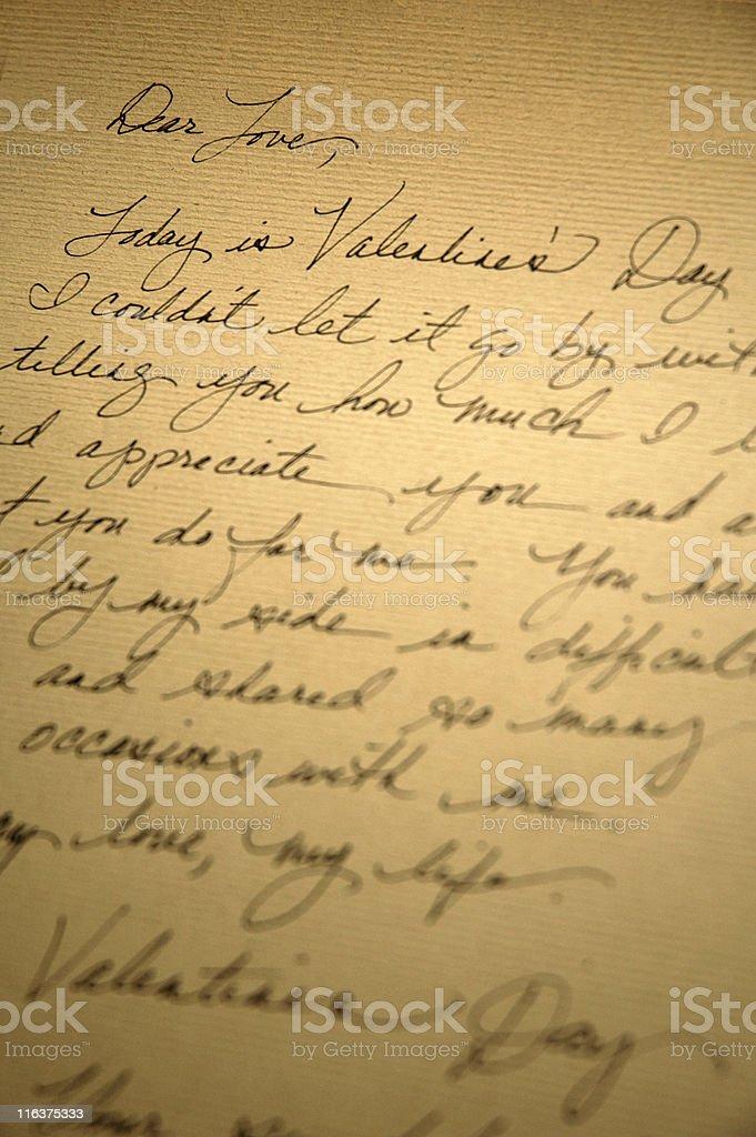 Valentine's Day Love Letter Vertical stock photo