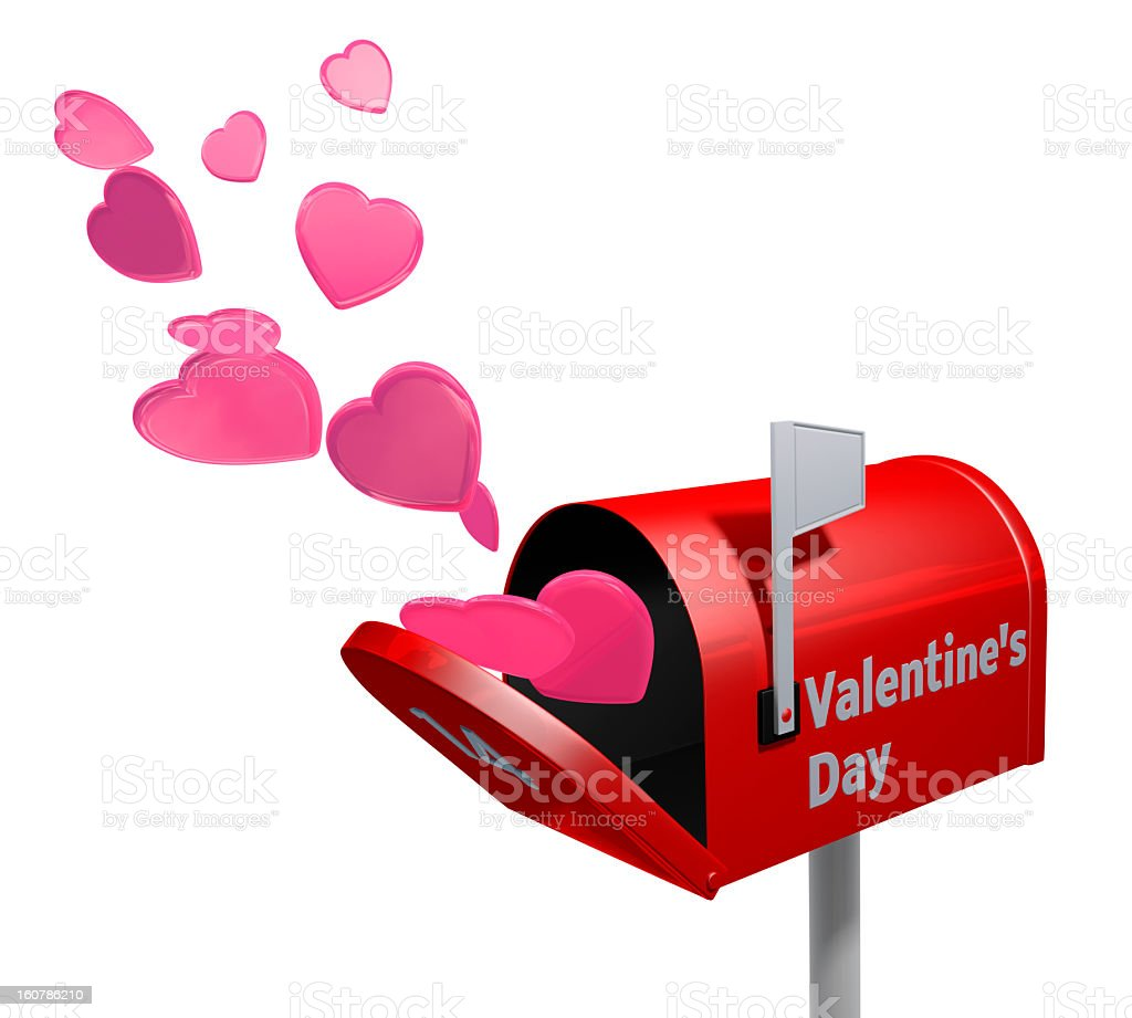 Valentine's day mailbox royalty-free stock photo