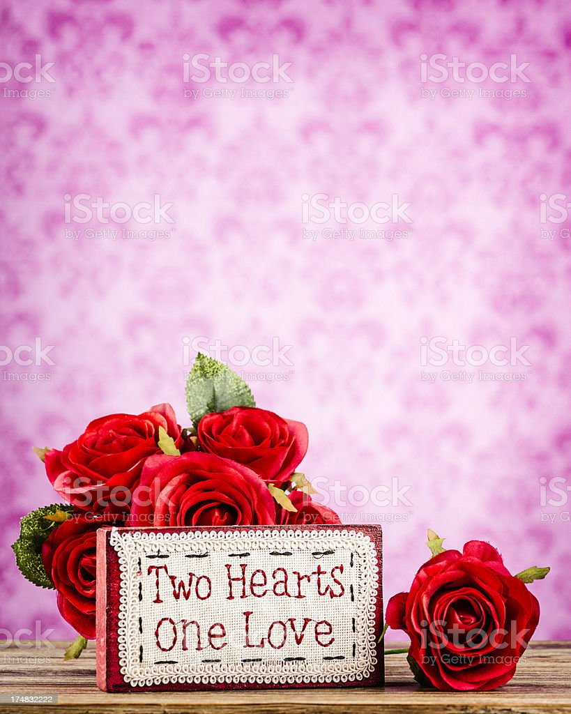 Valentine's Day Message royalty-free stock photo