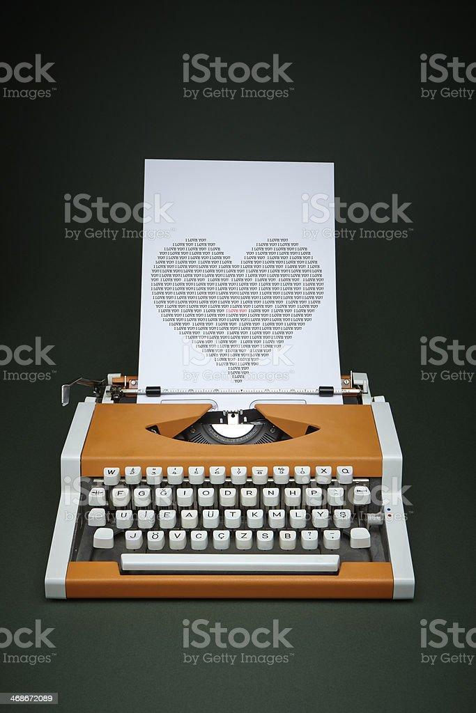 Valentine's Day Message stock photo