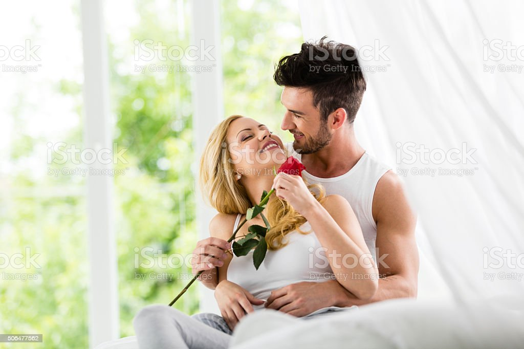 Valentine's day morning stock photo