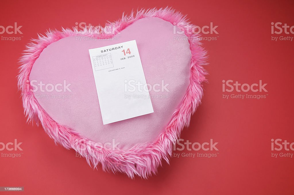 Valentine's Day Page on Heart stock photo