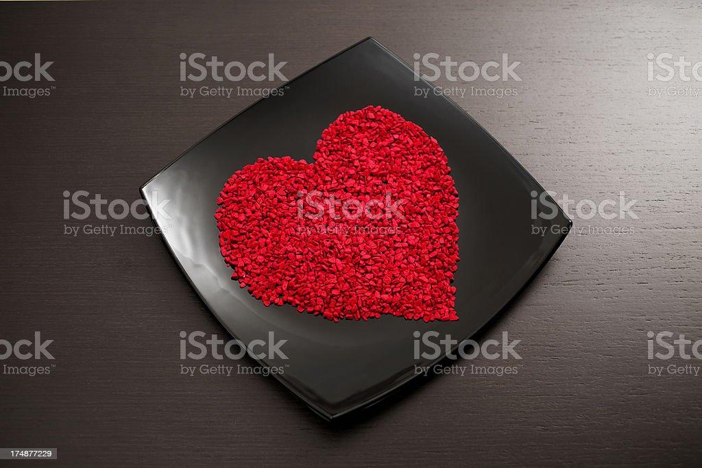 Valentine's Day present - Heart royalty-free stock photo
