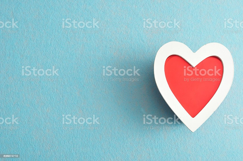 Valentine's Day. Red and white heart stock photo