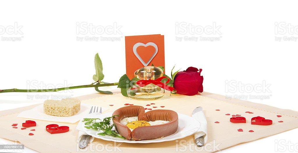 Valentine's Day. romantic dinner stock photo