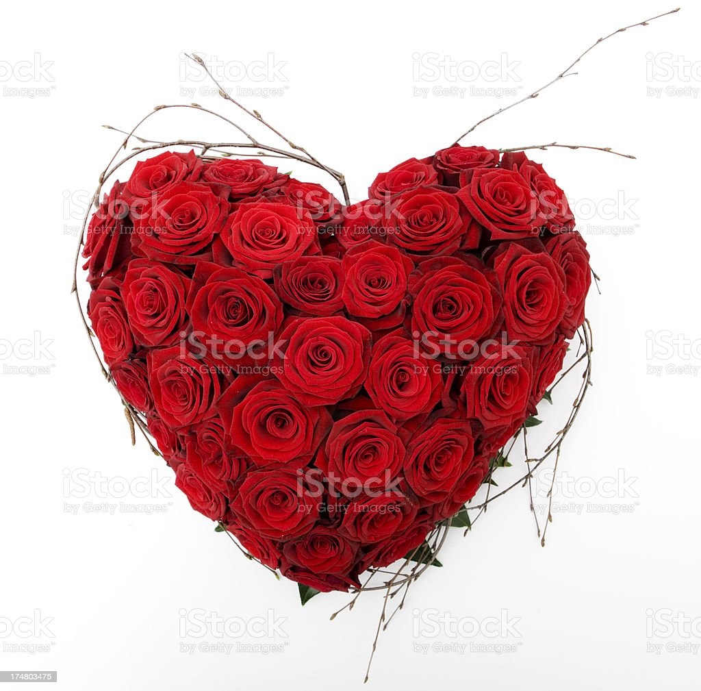 Valentines Day Rose Heart royalty-free stock photo