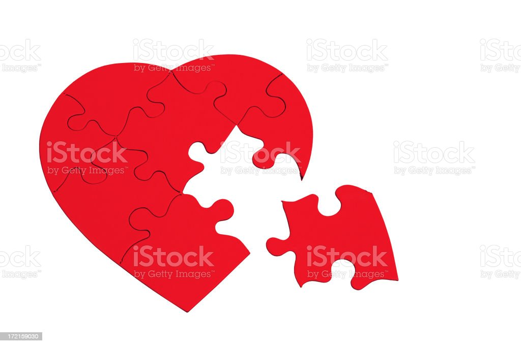 Valentine's Day Series on white with copyspace. royalty-free stock photo