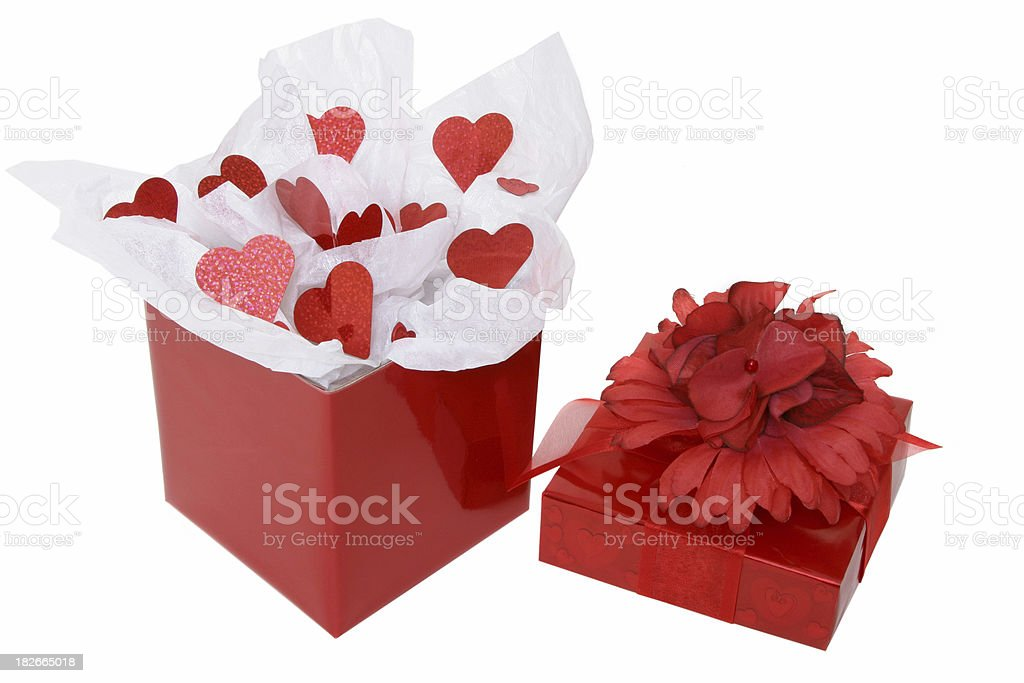 Valentines Day Series (on white background) royalty-free stock photo