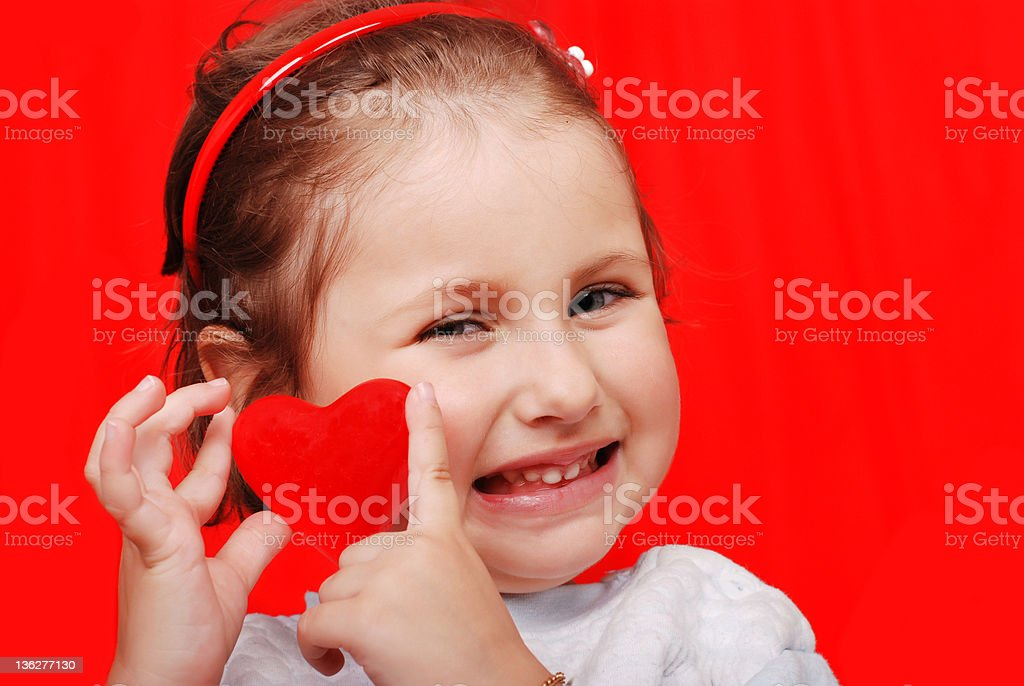 Valentines Day smile royalty-free stock photo