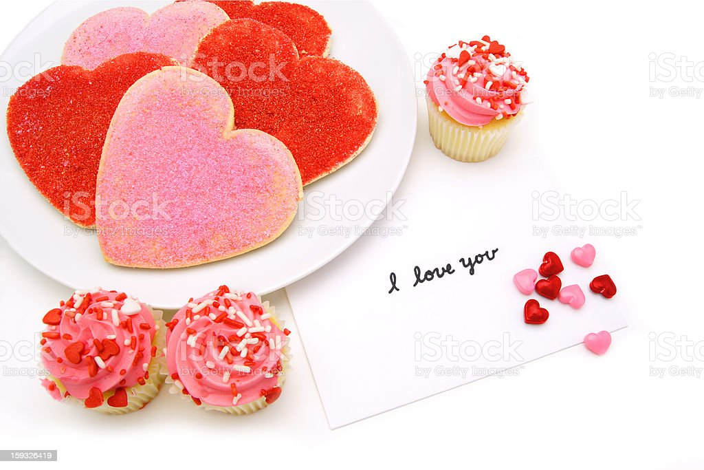 Valentines Day sweets stock photo