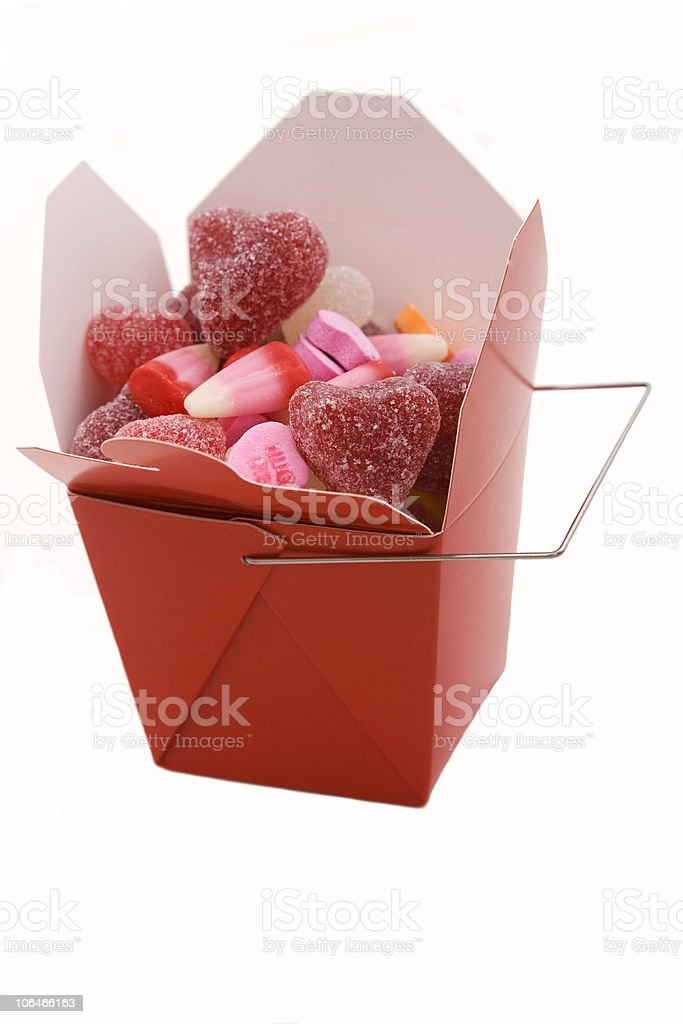 Valentine's Day Take Out stock photo