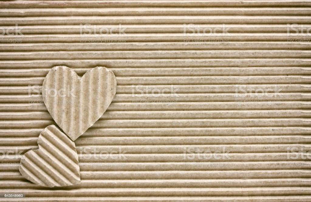 valentine's day, two hearts stock photo