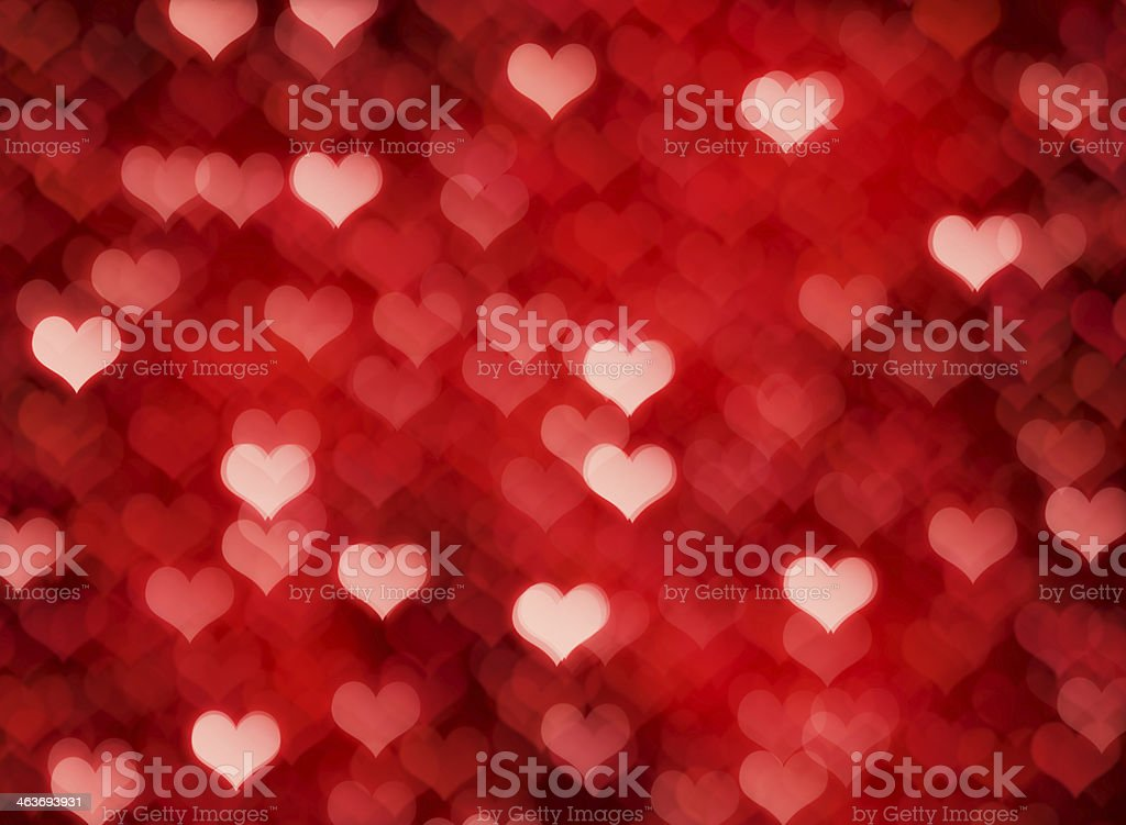 Valentine's day with multiple hearts background stock photo