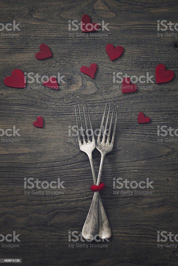Valentines dinner stock photo