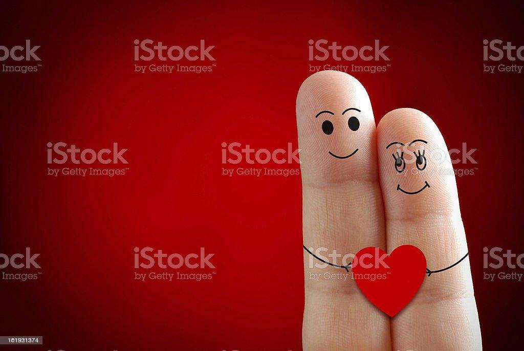 Valentines finger stock photo