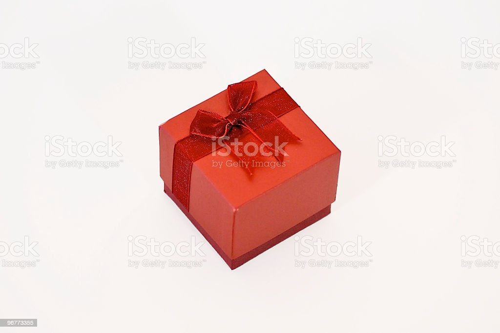 Valentines Gift box royalty-free stock photo