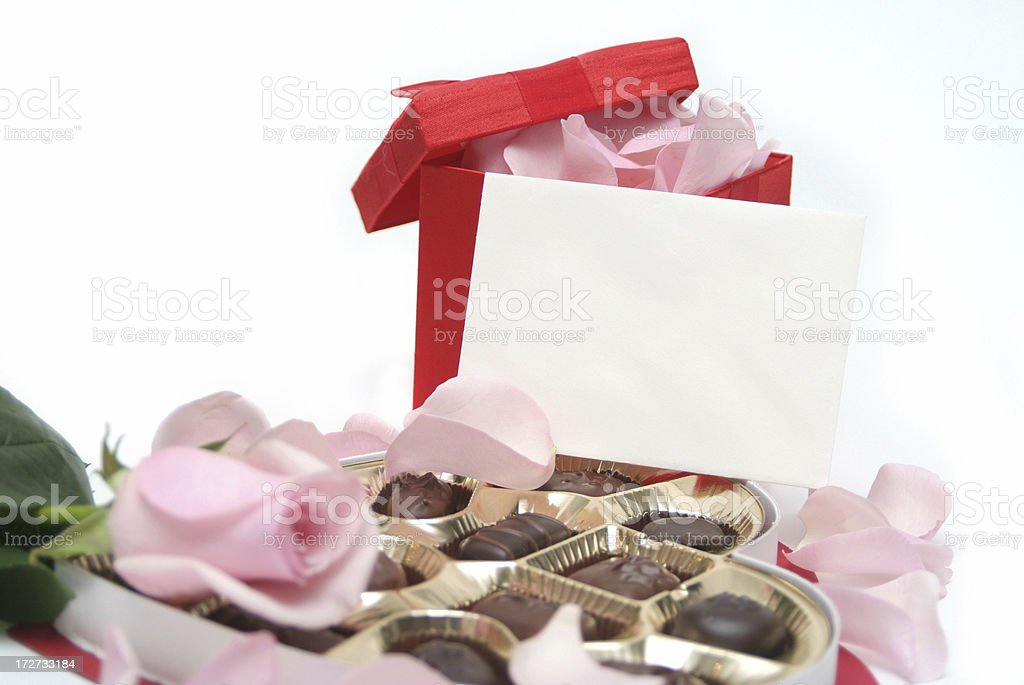 Valentine's Gift (with blank envelope) royalty-free stock photo