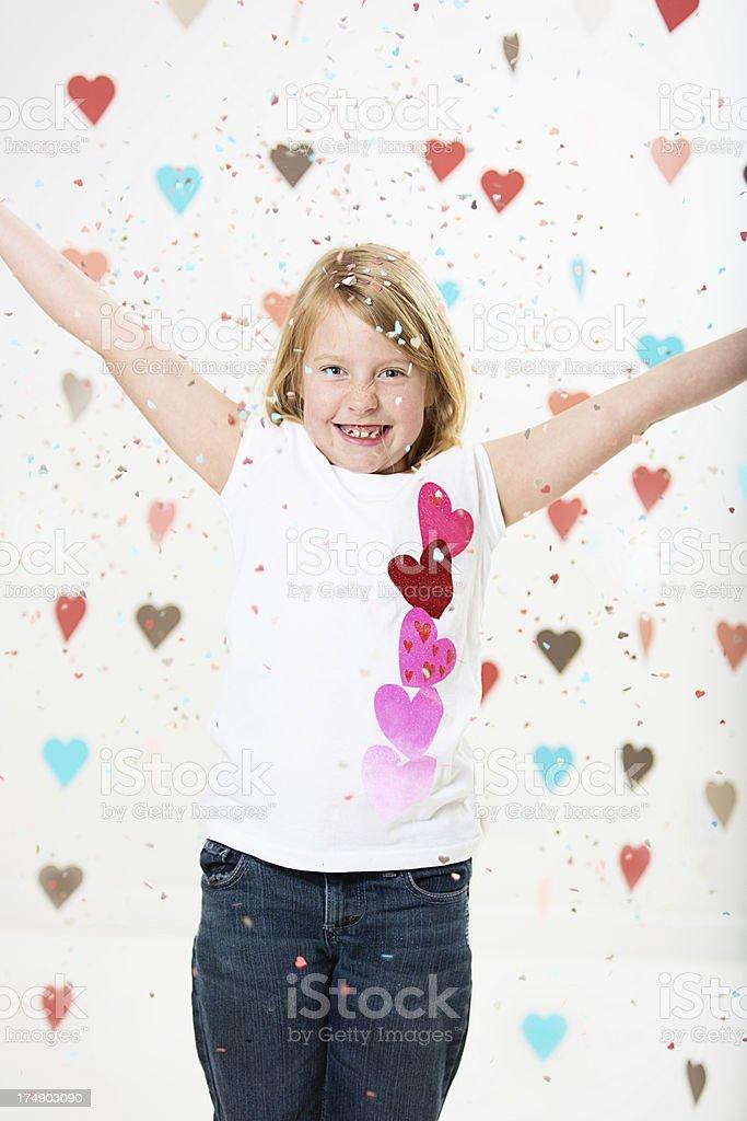 Valentines girl royalty-free stock photo