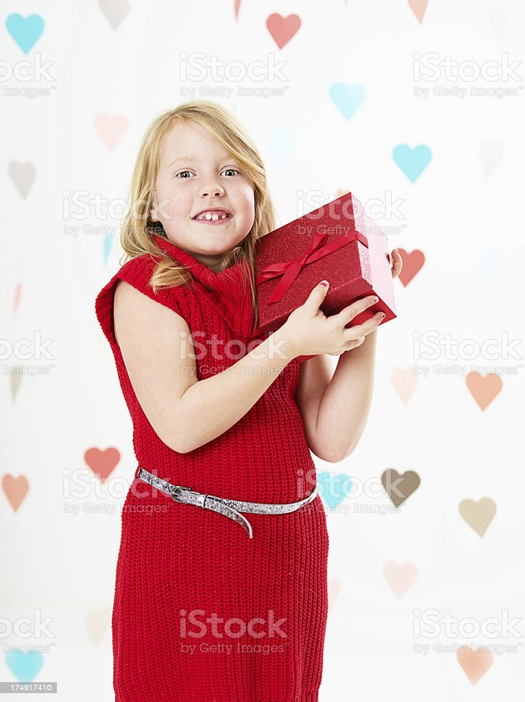 Valentines girl royalty-free stock photo