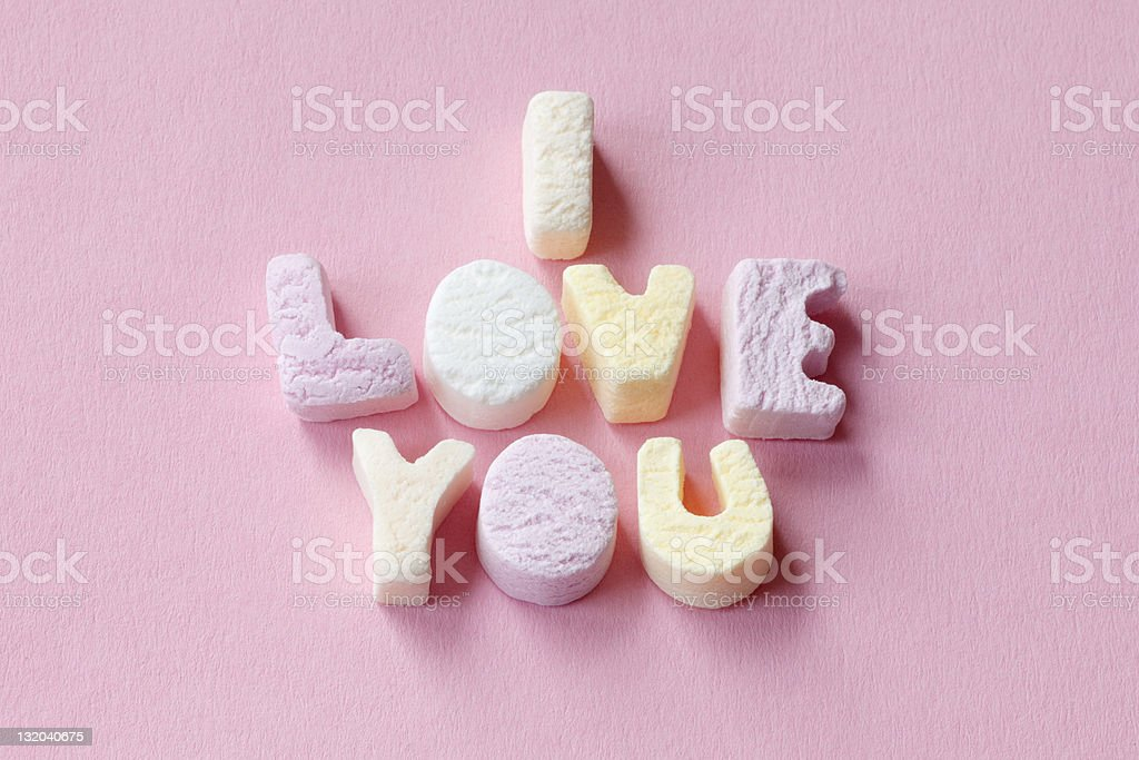 Valentines Letter Candies stock photo