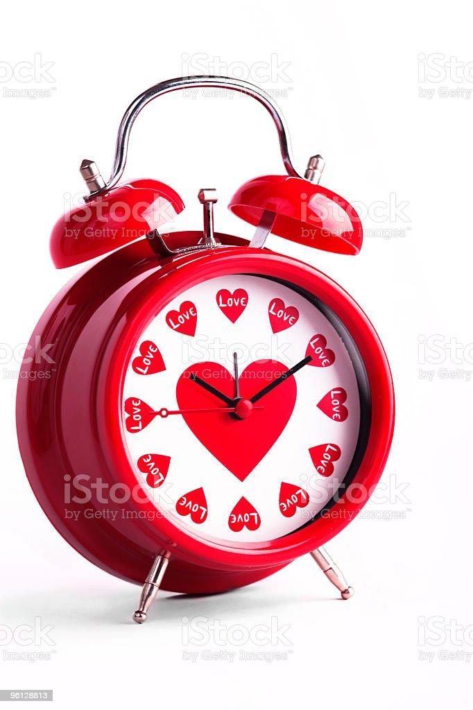 Valentine's love clock royalty-free stock photo