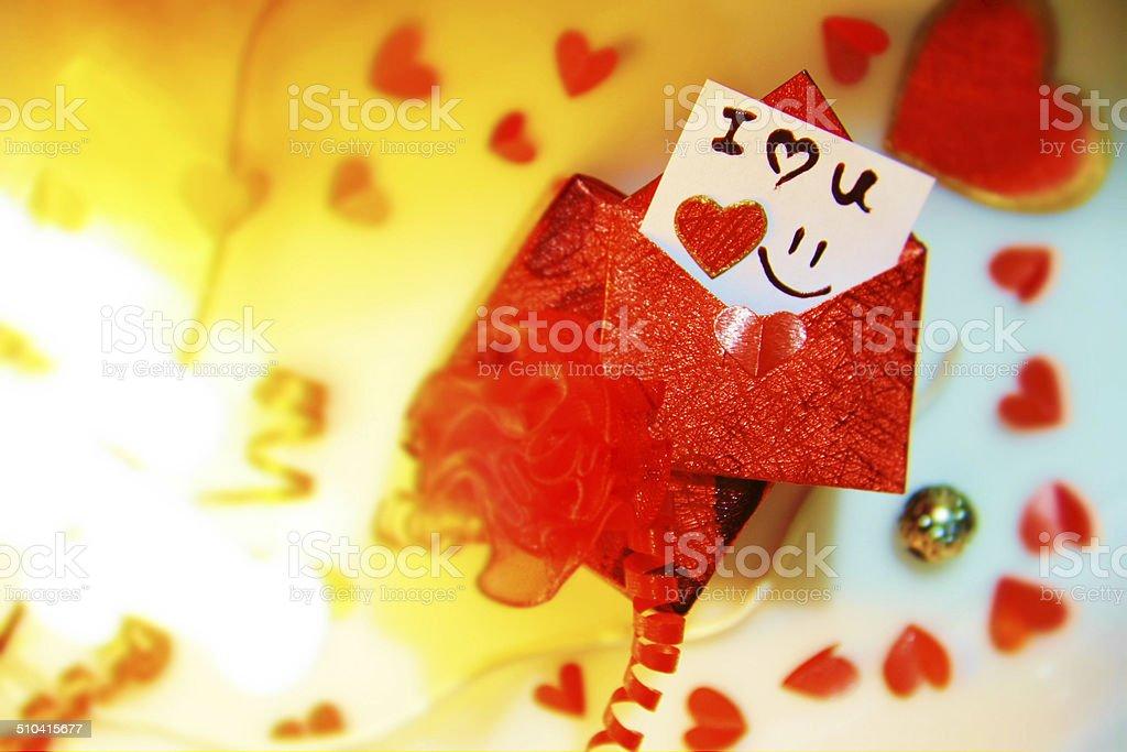 Saint-Valentin Amour lettre de présentation photo libre de droits