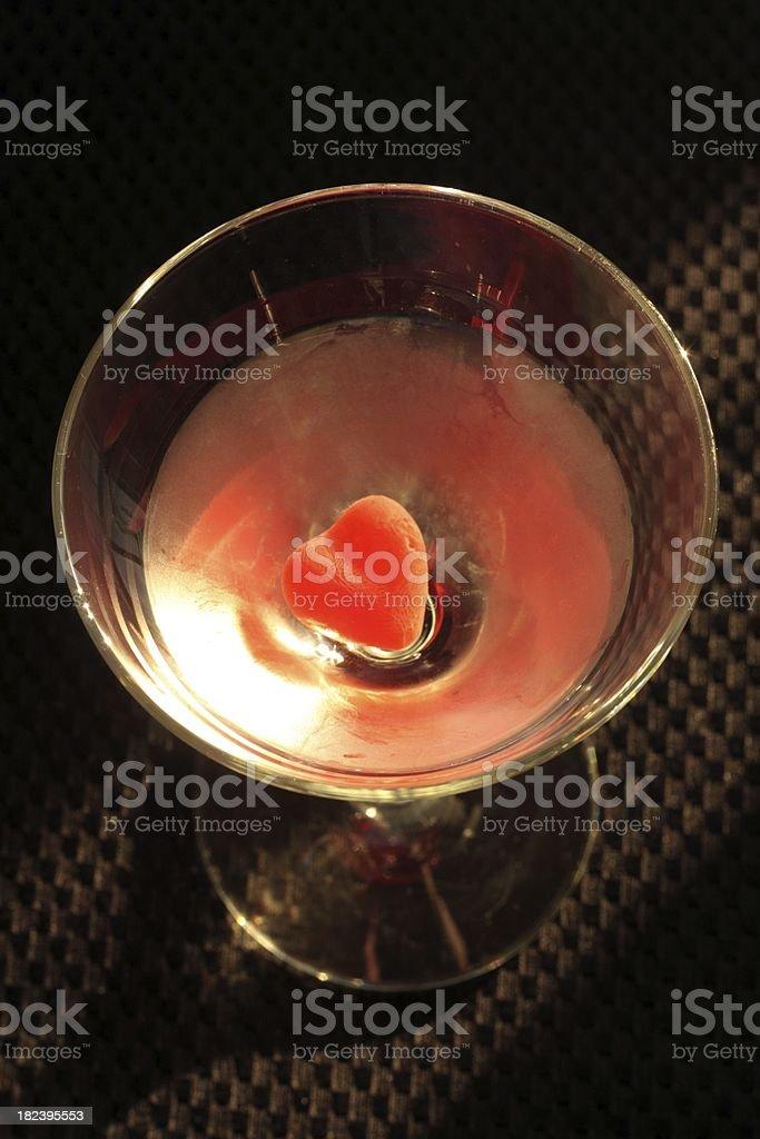 Valentines Martini royalty-free stock photo