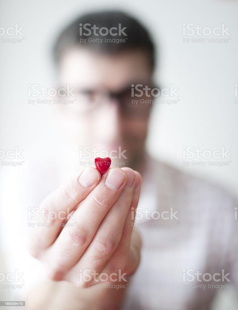 Valentine's Nerd stock photo