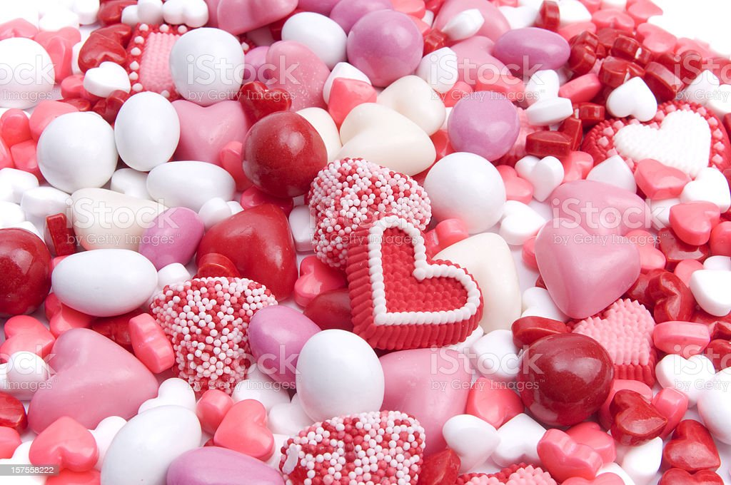 Valentine's or Romance Candy Background stock photo